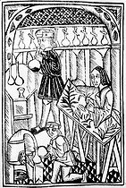 """The powers of water and herbs"". German medieval engraving. © Albert Harlingue / Roger-Viollet"
