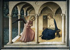 "Fra Angelico (1387-1455). ""Annonciation"". Fresque, 1442-1445. Florence (Italie), musée Saint-Marc. © Alinari/Roger-Viollet"