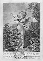 Christian Von Mechel (1737-1817), after Carle Van Loo (1705-1765). Threatening Cupid. Engraving. French National Library. © Roger-Viollet