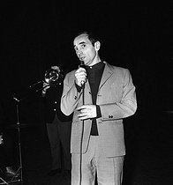 Charles Aznavour (1924-2018), Armenian-born French singer-songwriter and actor. Paris, Olympia, January 1963. © Studio Lipnitzki / Roger-Viollet