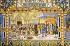 Ecole espagnole. Indiens d'Amérique amenés en Espagne par Christophe Colomb, 1492. Céramique, XXème siècle. Séville (Espagne), parc de María Luisa. © Roger-Viollet