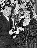 Charles Aznavour (1924-2018) and Jacqueline François (1922-2009), French singers. © Roger-Viollet