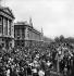 World War II. Liberation of Paris. Crowd at the place de la Concorde, on August 26, 1944. © Pierre Jahan/Roger-Viollet