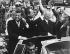 John Fitzgerald Kennedy (1917-1963), homme d'Etat américain, en visite officielle à Berlin ouest, ici avec Konrad Adenauer (1876-1967), homme d'Etat allemand. Berlin-Ouest, 26 juin 1963. © Ullstein Bild / Roger-Viollet