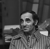 Charles Aznavour (1924-2018), Armenian-born French singer-songwriter and actor, February 1972. © Patrick Ullmann / Roger-Viollet