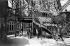 1900 World Fair in Paris. Elevator in the Eiffel Tower. © Neurdein / Roger-Viollet