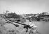 Le vieux port pris du rocher de la Vierge. Biarritz (Pyrénées-Atlantiques), vers 1880. © Léon et Lévy/Roger-Viollet