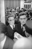 Pierre Bergé (1930-2017), French writer, and Yves Saint Laurent (1936-2008), French fashion designer. Paris, Théâtre de l'Etoile, 1958. © Bernard Lipnitzki / Roger-Viollet