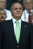 Le roi Juan Carlos Ier d'Espagne (né en 1938), lors des quarts de finale du championnat d'Europe de football opposant l'Espagne à l'Italie. Vienne (Autriche), stade Ernst-Happel, 22 juin 2008. © TopFoto / Roger-Viollet