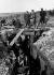 Guerre 1939-1945. Inspection des travaux de tranchées par un général d'Armée près des lignes. France, 1939.     © Roger-Viollet