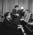 Yehudi Menuhin (1916-1999), Russian-born American violonist and conductor and George Enesco (1881-1955), Romanian violonist and composer. Paris, February 1936. © Boris Lipnitzki / Roger-Viollet