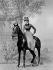 Sarah Bernhardt (1844-1923), French tragic actress, riding sidesaddle. © Roger-Viollet