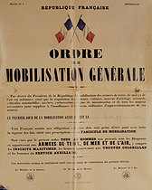 World War II. General mobilization order. France, September 2, 1939. © Roger-Viollet