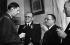Le général De Gaulle s'entretenant avec Bogomolov, ambassadeur d'URSS et Félix Gouin, président de l'assemblée consultative. Alger, février 1944.      © Roger-Viollet