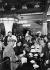 """Interior of """"La Coupole"""", café on the boulevard du Montparnasse. Paris, 1930s. © Roger-Viollet"""