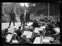Preparation for the Bastille Day ceremonies. Rehearsal of the Théâtre-français and the Opera at the Lutèce amphitheatre. Paris, July 1919. © Excelsior - L'Equipe / Roger-Viollet
