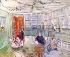 """Raoul Dufy (1877-1953). """"Intérieur du club nautique Royal Yacht Squadron à Cowes"""". Peinture, 1936. © TopFoto/Roger-Viollet"""