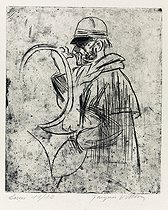 Jacques Villon (Duchamp Gaston, known as, 1875-1963). Hunting horn. Engraving. Paris, musée d'Art moderne. © Musée d'Art Moderne / Roger-Viollet