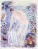 """Raoul Dufy (1877-1953). """"Nu devant la mer"""". Lithographie couleur, XXème siècle. Paris, musée d'Art moderne. © Musée d'Art Moderne/Roger-Viollet"""