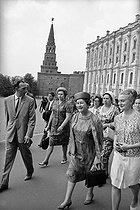 Yvonne de Gaulle (1900-1979), wife of Charles de Gaulle (1890-1970), President of the French Republic, visiting the Kremlin. Moscow (Russia), June 1966. © Roger-Viollet