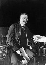 Theodore Roosevelt (1858-1919), president of the United States from 1901 to 1908, in 1902. © Roger-Viollet