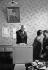 Elections municipales. Le président et madame de Gaulle votant à Colombey-les-Deux-Eglises (Haute-Marne), 8 mars 1959. © Roger-Viollet