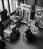 Fernand Léger (1881-1955), French painter, in his studio. Paris, 1934. © Walter Limot / Roger-Viollet