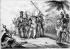 Christophe Colomb (1450/1451-1506), navigateur gênois, aborde sur l'île San Salvador (Bahamas). 12 octobre 1492. © Roger-Viollet