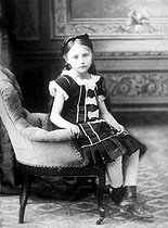Colette ( 1873-1954 ), French writer, at the age of 5 years. © Albert Harlingue/Roger-Viollet