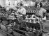 Renault car industry. Piston assembly. Billancourt (France), 1931-1934. Photograph by François Kollar (1904-1979). Paris, Bibliothèque Forney. © François Kollar/Bibliothèque Forney/Roger-Viollet