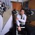 Francis Bacon (1909-1992), peintre britannique, dans son atelier. Londres (Angleterre), Royal College of Art, 1969. Photographie de John Hedgecoe (1932-2010). © John Hedgecoe/TopFoto/Roger-Viollet