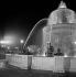 Illuminated fountain, place de la Concorde. Paris (VIIIth arrondissement), August 1956. © Roger-Viollet