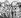 """Les """"quatre"""" à Munich. De gauche à droite : Edouard Daladier, Arthur Neville Chamberlain, Benito Mussolini et Adolf Hitler. Caricature extraite du journal """"Paris-Midi"""", 29 septembre 1938.  © Roger-Viollet"""