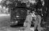 Cambodian War. Monks in front of a tank. Cambodia, 1975. © Françoise Demulder / Roger-Viollet
