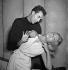 """Les Naturels du bordelais"", de Jacques Audiberti. Michel Piccoli et Sylvie Pelayo. Paris, théâtre La Bruyère, septembre 1953. © Studio Lipnitzki / Roger-Viollet"