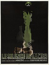 "Raymond Gid (1905-2000). Poster for ""Le Silence de la mer"", film by Jean-Pierre Melville, from a short story by Vercors. Printer : Imprimerie IPA (Champigny), 1979. Paris, Bibliothèque Forney. © Bibliothèque Forney / Roger-Viollet"