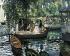"""Auguste Renoir (1841-1919). """"La Grenouillère"""". Huile sur toile, 1869. Stockholm (Suède), musée national des Beaux-Arts. © Iberfoto / Roger-Viollet"""