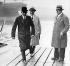 Henry Ford (1863-1947), industriel américain, visitant la nouvelle usine Ford, la plus moderne et la plus productive au monde après celle de Détroit. Dagenham (Essex - Angleterre), dans les années 1930.   © TopFoto / Roger-Viollet