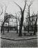 Winter scene of the place du Tertre. View from the northeast corner and the rue du Mont-Cenis. Paris (XVIIIth arrondissement), December 1933. Photograph by Jean Roubier (1896-1981). Bibliothèque historique de la Ville de Paris. © Jean Roubier/BHVP/Roger-Viollet