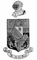 """Georges Courteline's coat of arms (1858-1929), French writer, with this motto : """" I  do not care """". © Roger-Viollet"""