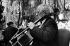 Chute du mur de Berlin. Mstislav Leopoldovitch Rostropovitch, violoncelliste soviétique, jouant Bach près de Checkpoint Charlie. Berlin, 11 novembre 1989. © Ullstein Bild / Roger-Viollet