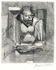 """Jacques Villon (Duchamp Gaston, dit). """"Caliban"""". Eau-forte. vers 1930. Paris, musée d'Art moderne. © Musée d'Art Moderne / Roger-Viollet"""