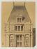 Gabriel Davioud (1823-1881). Projet de reconstruction de l'Hôtel de Ville. Pavillon d'angle : élévation de la partie supérieure sans retombe. Dessin : crayon, lavis sur calque. Paris, bibliothèque de l'Hôtel de Ville.  © BHdV/Roger-Viollet