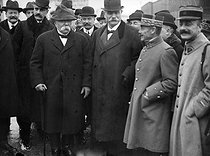 Georges Clemenceau (1841-1929), French statesman, during an official visit in Strasbourg (France) and Kehl (Germany), November 1919. © Roger-Viollet