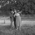 """A pied, à cheval et en voiture"", film by Maurice Delbez. Sophie Daumier and Noël-Noël. France, on May 15, 1957. © Alain Adler / Roger-Viollet"
