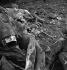 Guerre 1939-1945. Occupation. Destruction de statues pour récupérer les métaux. Le bras de la statue de Marat, par Jean-Eugène Baffier (1851-1920). Paris, 1941. © Pierre Jahan/Roger-Viollet