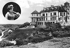 Belle-Ile-en-Mer (Morbihan), Penhoët castle, former castle of the count de Houssoye, then bought by Sarah Bernhardt (medallion), Guellec architect, destroyed by the Germans in 1944. © CAP/Roger-Viollet