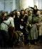 Vladimir Alexandrovitch Serov. Lenine s'adressant à la foule devant l'institut Smolny. Petrograd (Saint-Petersbourg, Russie), printemps 1917. © Ullstein Bild/Roger-Viollet