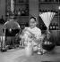 Helena Rubinstein (1870-1965), Polish-born American cosmetics entrepreneur, in her laboratory. Saint-Cloud (Hauts-de-Seine), 1939-1940. © Boris Lipnitzki/Roger-Viollet