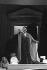 """Ariadne auf Naxos"", opera by Richard Strauss. Direction : Jean-Louis Martinoty. Conductor : Lothar Zagrosek. Stage design : Hans Schavernoch. Costumes : Lore Haas. Montserrat Caballé. Paris, Opéra Comique, October 1986. © Colette Masson/Roger-Viollet"